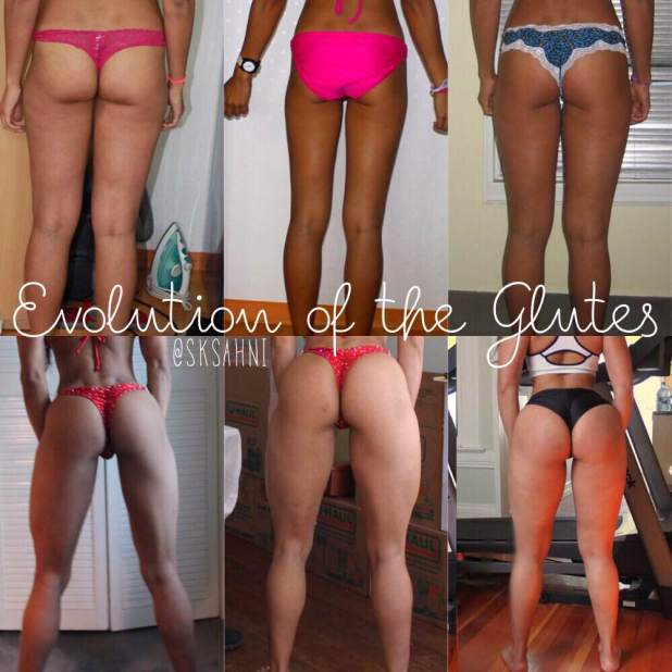 evolution of the glutes